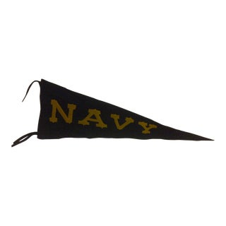 Vintage United States Naval Academy Pennant Circa 1940