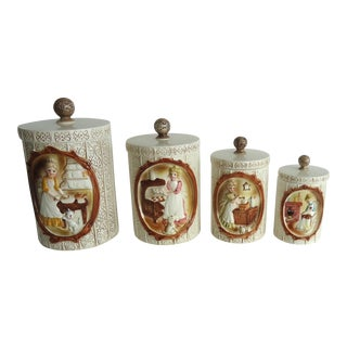 Victorian Style 70s Canisters - Set of 4