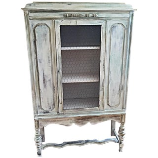 Antique Distressed China Cabinet