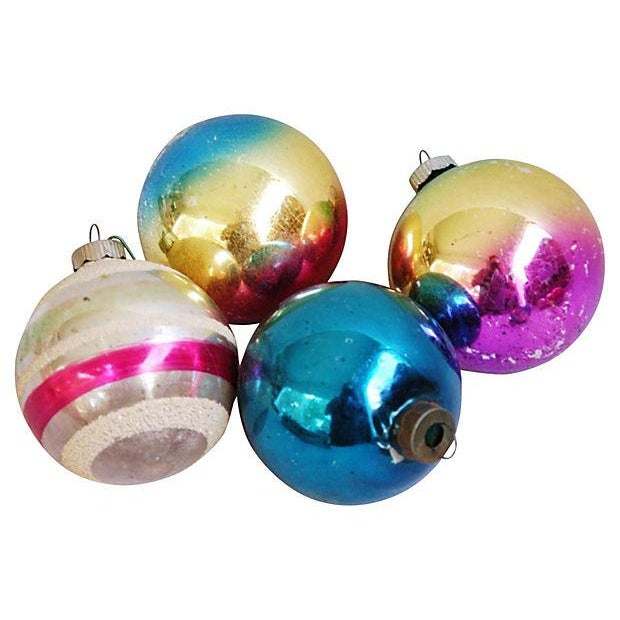 1960s Bright Christmas Ball Ornaments - Set of 12 - Image 3 of 5