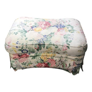 Cottage Contemporary Style Floral Ottoman