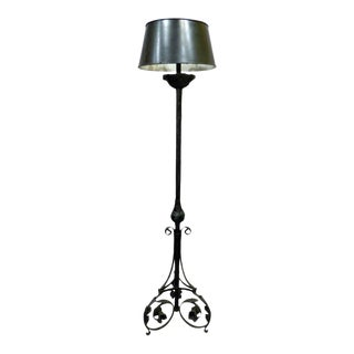 Spanish Torchere Iron Floor Lamp