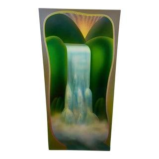 Merrill Mahaffey Early Morning Waterfall Painting