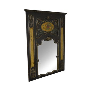 Habersham Large Hand Painted French Louis XV Style Trumeau Mirror