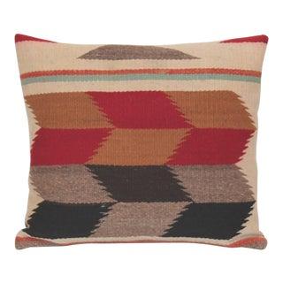 Pair of Tumbling Blocks Navajo Indian Weaving Pillows