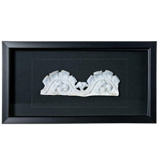 Framed Vintage French Zinc Architectural Fragment