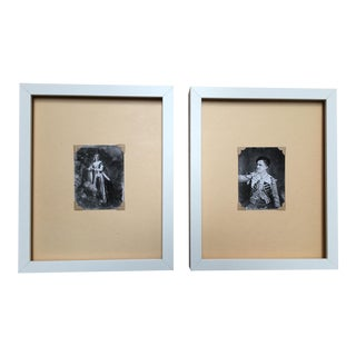 """The Actors"" Daguerreotype Prints - A Pair"