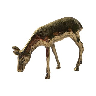 Mid-Century Brass Deer Figure