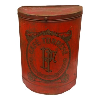 19th Century French Cafe Tin Hamper