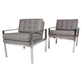 Milo Baughman Mid-Century Lounge Chairs - A Pair