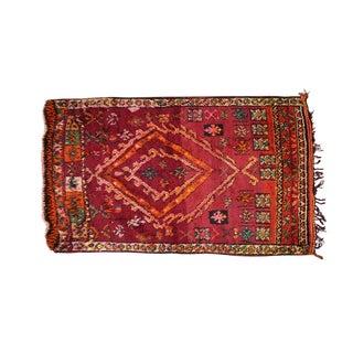 Vintage Moroccan Boucherouite Rug- 6′6″ × 10′10″