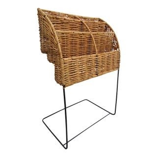 Cane or Wicker Cantilever Stand