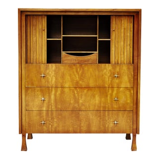 John Widdicomb Mahogany Hollywood Regency Gentlemen's Highboy Dresser