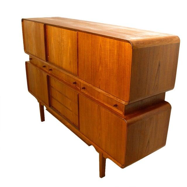 Rare Danish Modern Teak Highboard / Bar Cabinet - Image 4 of 9