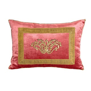 Antique Embroidery Pillow by Rebecca Vizard