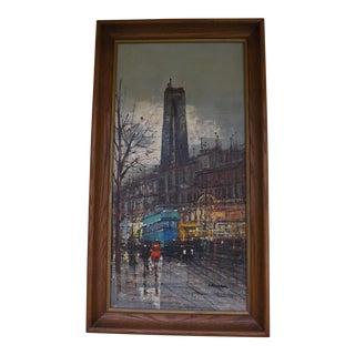 1960s Modernist Paris Painting by MSL Calvan