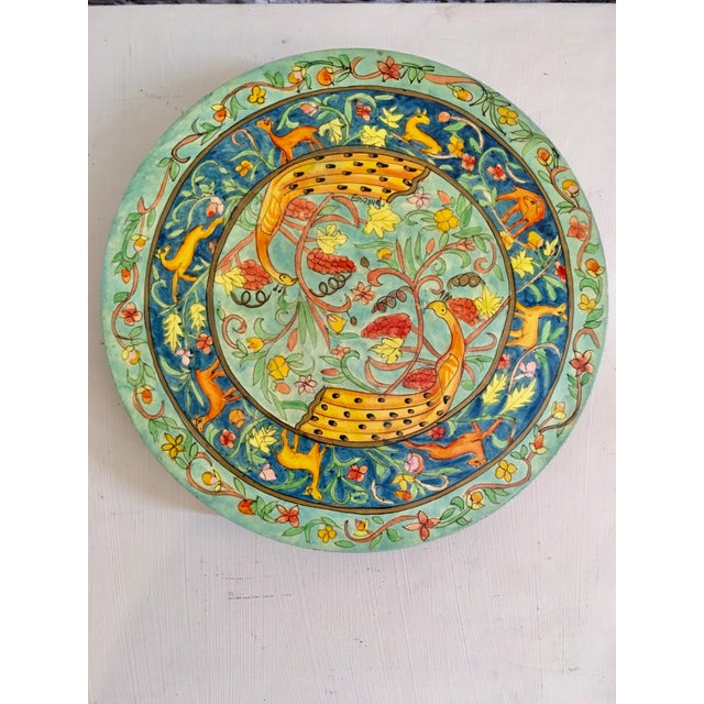 Hand-Painted Peacock Trivet - Image 5 of 6
