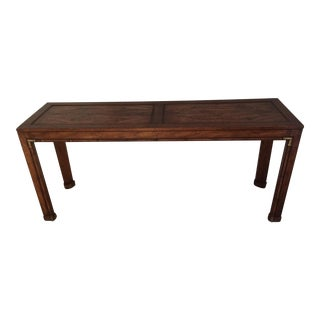 Burled Wood Sofa Table