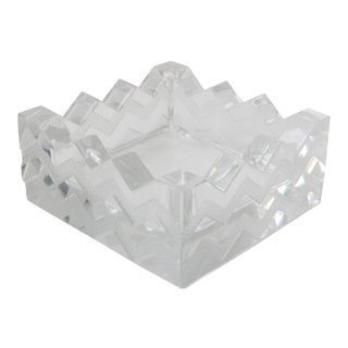 Art Deco Crystal Dish