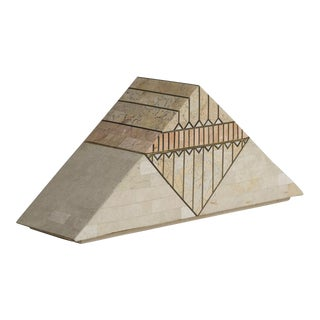 A Casa Bique Designed Tessellated Stone Pyramid Box, 1980s