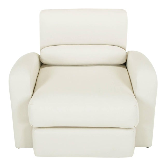 Image of Jay Spectre Steamer Lounge Chair with Ottoman