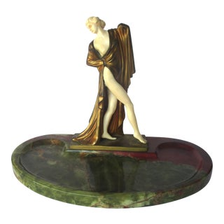 Art Deco Desk Pen Holder