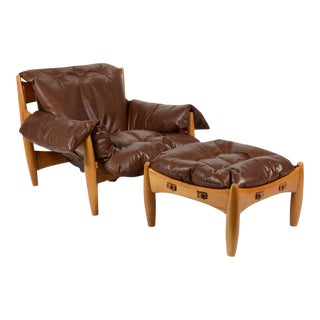 Sergio Rodrigues Sheriff Lounge Chair & Ottoman