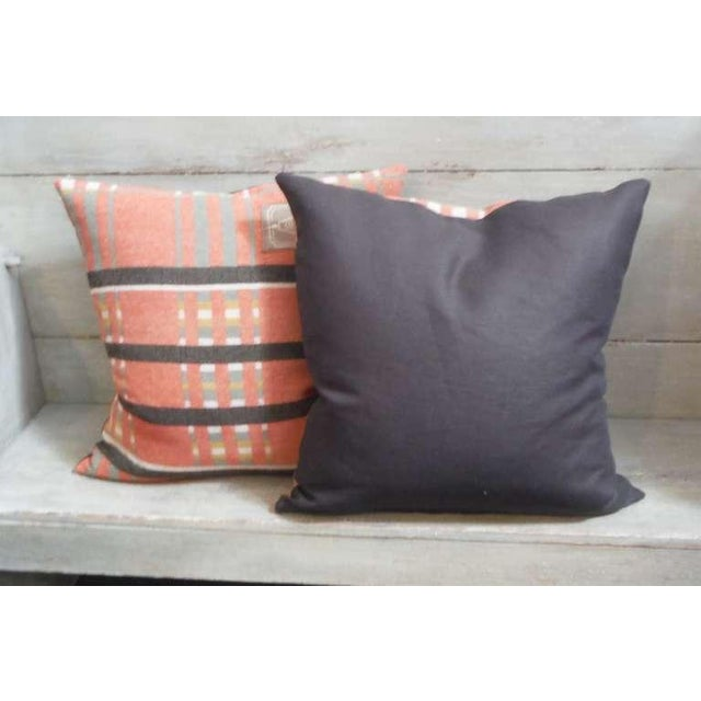Pair of 19th Century Northern Ohio Blanket Mills Horse Blanket Pillows - Image 5 of 5