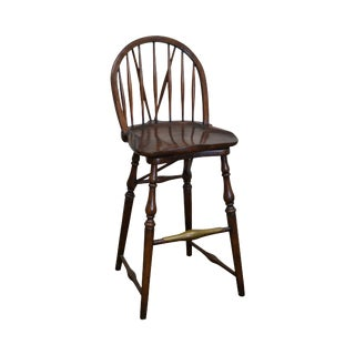 Jonathan Charles Windsor Style Swivel Bar Stool