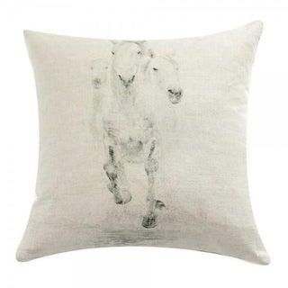 Horse Trio Print Linen Pillow