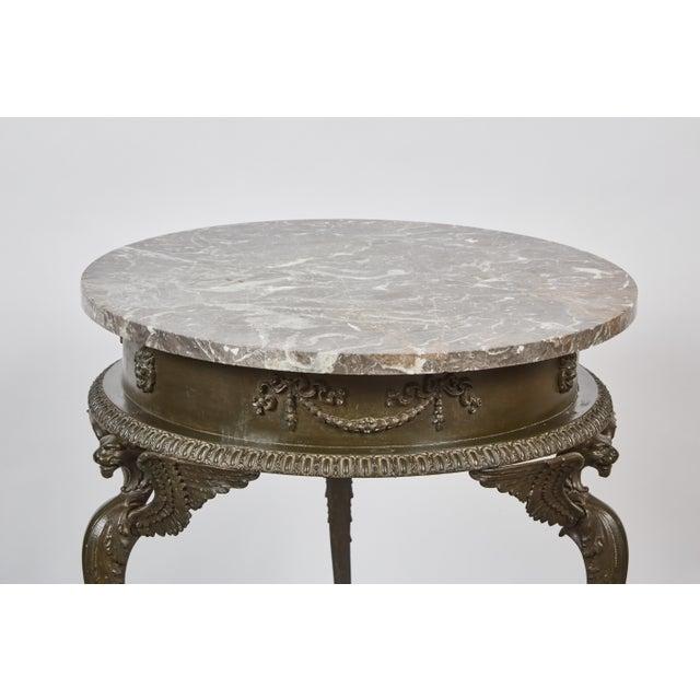 Mid 19th Century three-legged Italian Dark Gray Marble Top Gueridon Table - Image 6 of 7