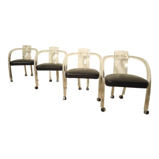 "Wycombe-Meyer Lucite ""Loop"" Chairs - Set of 4"