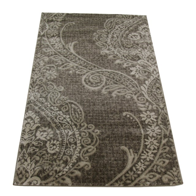 Gray Damask Rug - 3' X 5' - Image 1 of 4