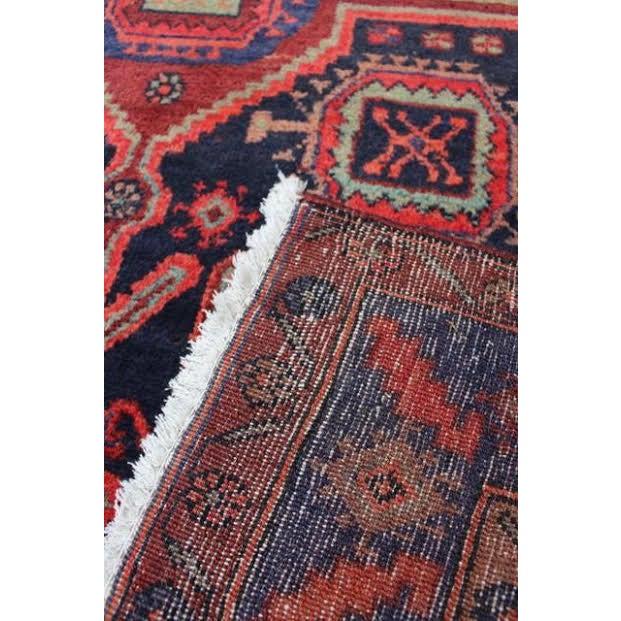 Semi-Antique Persian Hamadan Runner - 4′3″ × 10′7″