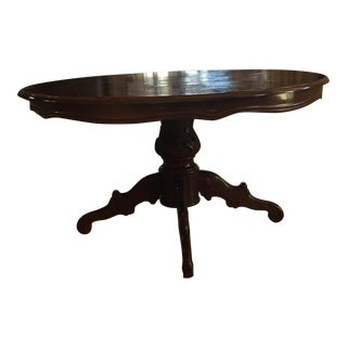 Inlaid Wood Round Coffee Table