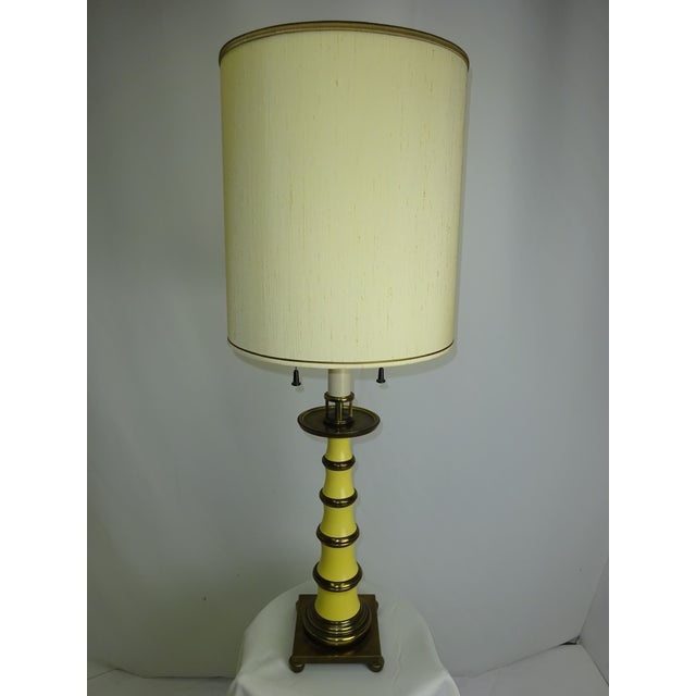 Circa 1960 Faux Bamboo Enamel Table Lamp - Image 2 of 9