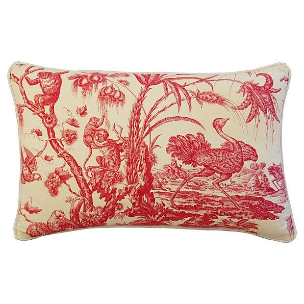 Image of Marius Boudin French Toile & Linen Pillow