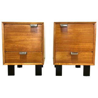 George Nelson Primavera Bedside Cabinets - a Pair