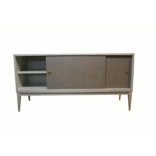 Customizable Bishop Lacquered Linen Door Console - Image 10 of 10