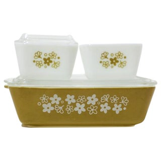 Pyrex Fridge Container Glassware Set - 5 Pieces