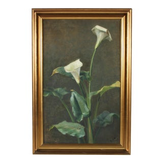 1944 Oil Painting 'Lilies'