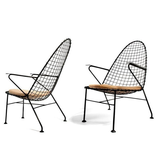 Italian Wire Chairs - A Pair - Image 4 of 4