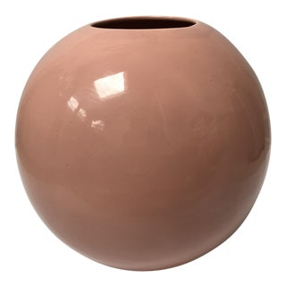 Haeger Pottery Pink Orb Vase