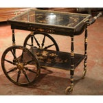 Image of Early 20th Century French Chinoiserie Hand Painted Bar Cart