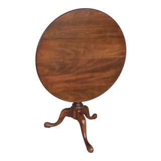 "STATTON Oxford Cherry Tilt Top Accent Pedestal Table 29.5""W"