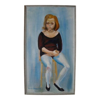 Young Ballet Dancer Portrait Painting, 1967