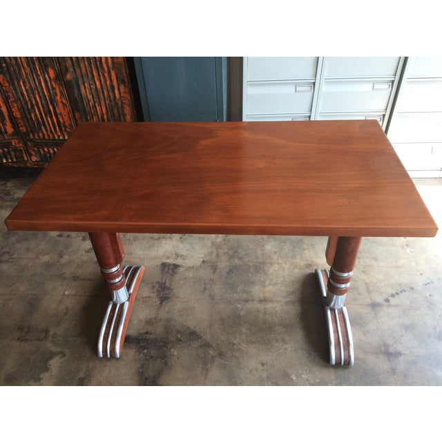 French Art Deco Bistro Dining Table - Image 3 of 11