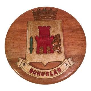 Bohuslan Family Crest Wood Plaque