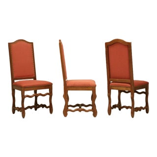French Vintage Dining Chairs, Set of 12
