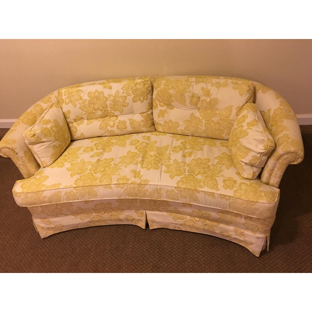 Curved Floral Henredon Loveseat Chairish
